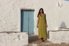 Green Fashion, Greek Islands, Summer Collection, Beautiful Outfits, Spring Summer, How To Wear, Clothes, Dresses, Tall Clothing