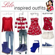 """""""Lilo inspired outfits :)"""" by shannonstyles on Polyvore"""