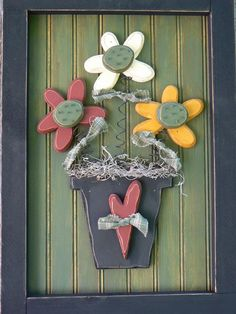 Flower Pot Picture Pattern. $6,00, via Etsy.