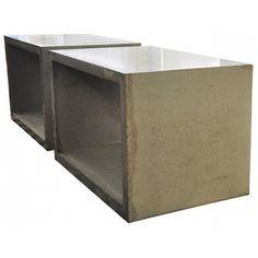 Pair of Pre-Cast Architectural Concrete Tables