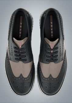 The Best Men's Shoes And Footwear : Prada -Read More – Prada Shoes, Men's Shoes, Shoe Boots, Dress Shoes, Saddle Shoes, Dress Clothes, Shoes Men, Fashion Mode, Fashion Shoes