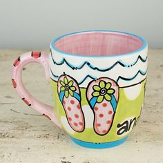 The Footloose And Fancy Free Flip Flop Jumbo Mug. www.allaboutflipflops.com