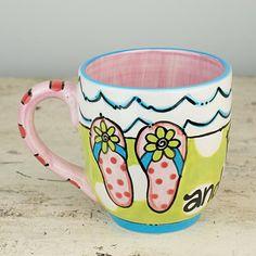 The Footloose And Fancy Free Flip Flop Jumbo Mug. www.allaboutflipflops.com