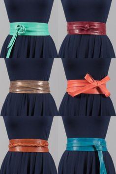 @Mandy Loeffler  Leather Wrap Belt.  One of these...I got the bottom left (Cognac)