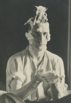 Marcel Duchamp photographed by Man Ray, 1924.