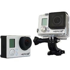 GoPro Hero3+ Plus Black Edition Adventure 1080P HD Camcorder w/ Wi-Fi CHDHX-302