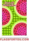 Summer Fun Watermelon Garden Flag