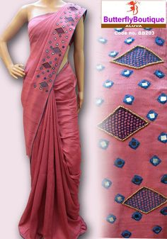 How to Select the Best Modern Saree for You? Saree Blouse Patterns, Designer Blouse Patterns, Saree Blouse Designs, Sari, Saree Dress, Indian Designer Outfits, Indian Outfits, Cutwork Saree, Mirror Work Saree
