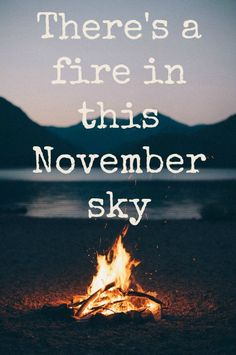 There's a fir in this November sky. Sleeping With Sirens - November, Madness