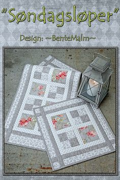 Bilderesultater for pris liten quilt Table Runner And Placemats, Table Runner Pattern, Quilted Table Runners, Quilt Placemats, Patchwork Table Runner, Small Quilts, Mini Quilts, Quilting Projects, Quilting Designs