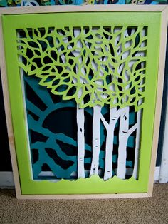 Nine Red: Triple Layer Cut Canvas - i love this idea! but i dunno if my hand is steady enough. Fun Crafts, Diy And Crafts, Arts And Crafts, Paper Crafts, Cut Canvas, Canvas Art, Canvas Crafts, Diy Wall Art, Diy Art