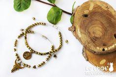 Beaded bracelet, Cord bracelet, Crystal beaded bracelet, Bronze bracelet, Taurus bracelet, Coin bracelet, Hematite bracelet, Gold hematite http://etsy.me/2nzbjBe #jewelry #bracelet #bronze #bohobracelet #bullbracelet #braceletset