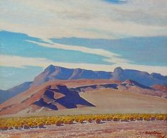 Maynard Dixon, Inyo County, 25x30. oil on board