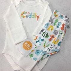 GYMBOREE BRAND NEW BABY CHOO CHOO TRAIN 2-PC SET 3 6 12 NWT