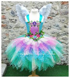 Lined Glitter, Ivy & Flowers Birthday Party Gala Outfit. Princess Tutu Dresses, Pageant Dresses, Flower Girl Dresses, Diy Tutu, Unicorn Dress, Unicorn Costume, Olaf Costume, Woodland Fairy, Forest Fairy