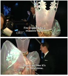 Love me some Ellen and definitely love me some Benedict. Put them both in the same room, and I'm rolling on the ground laughing.