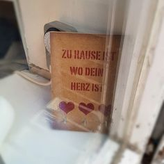 Home is where your heart is.  #Home #Heart #Love #Sign...