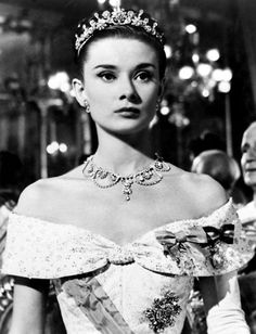 Audrey Hepburn in 'Roman Holiday', 1953.  Costume by Edith Head.