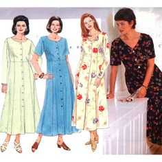 Butterick Sewing Pattern 4876 Women's/ Women's Petite Dress Size: 14W-16W-18W Uncut