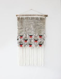 Poppy Scallops Weaving HandWoven Wall Hanging