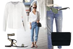 So this is how you wear a ripped boyfriend jeans in a very stylish way! | Fashion | Shopping | Blogger | Outfit | White shirt | Shoes |