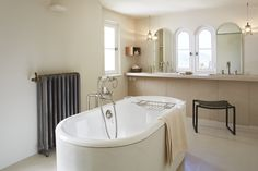 Elliott Barnes EBI Cannes Villa Master Bath Freestanding Tub And Dual Sinks, Francis Amiand Photo