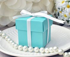 10 Tiffany Blue Inspired Favor Boxes by PartyGurlShoppe on Etsy, $6.00