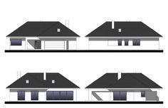 Projekt domu Bagatela 8 G2 130.91 m² - Domowe Klimaty Modern Bungalow House, Bungalow House Plans, Dream House Plans, House Floor Plans, Door Design, House Design, House Entrance, Ground Floor, Building A House