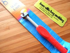Crochet Hook - Easy Grip with Flat Finger - size 5.0mm - US size H - Quality crochet hook brand Pony  by LoveEllieBagMaking Find it now at http://ift.tt/29UxyuT!