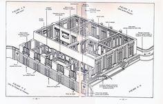 69 Plans du Petit Trianon - premier etage, cutaway view