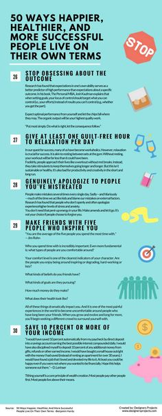 Infographics: 50 Ways Happier, Healthier, And More Successful People Live On Their Own Terms — Life Learning — Medium Buy Life Insurance Online, Affirmations, Ways To Be Happier, Life Learning, Self Development, Personal Development, Successful People, How To Better Yourself, The More You Know