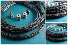 free jewelry making tutorials for viking knit silver metal chain (Beth Hemmila of Hint Jewelry)