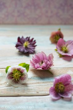 Place small delicate flowers on the tables during the reception for a romantic look