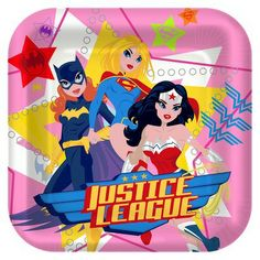 8ct Justice League Girl Snack Plate   party!   Pinterest   Birthdays