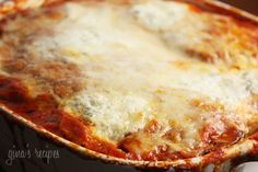Lighter Eggplant Parmesan - seriously one of my favorite ways to eat eggplant!