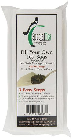 Special Tea Company Empty Tea Bags, 2 Inch x 3 Inch, 150 Count -- Awesome product. Click the image - Fresh Groceries