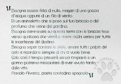 Quando la poesia incontra l'estrema semplicità, allora si piomba in uno stato di grazia.  #manoloalvarez, #felicità, #semplicità, #poesia, #italiano,