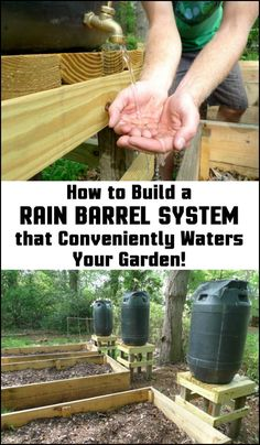 Unless you live in a very wet climate, it's always good to be able to collect rain water for your garden. Here's a great project you might be interested in doing...