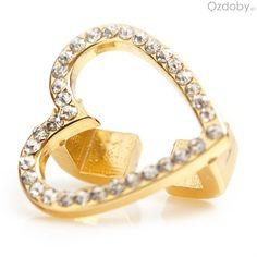 Zawieszka Charm Maya w kształcie złotego serduszka