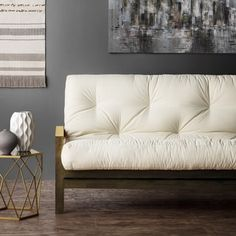 this futon mattress features a cotton wrapped foam construction  the durable cotton cover  plements any style  materials  cotton foam available sizes      shop for full size 12 inch futon mattress  get free shipping at      rh   pinterest