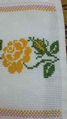 "This post was discovered by Ser ""This post was discovered by ayn"", ""Discover thousands of images about Nuriye Berber"" Just Cross Stitch, Simple Cross Stitch, Cross Stitch Borders, Cross Stitch Flowers, Cross Stitch Charts, Cross Stitch Designs, Cross Stitching, Cross Stitch Patterns, Embroidery Needles"