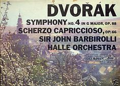 Dvorak used LP Symphony No. 4 in G Major, Op. 88; Scherzo C