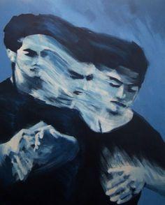 aesthetic, art, blues, grunge, painting