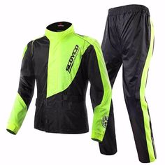 78.16$  Buy now - http://aliiqr.worldwells.pw/go.php?t=32749517300 - Outdoors Hiking Raincoat Set Men Outdoor Waterproof Windproof  Camping Racing jacket Pants Set Fluorescent Green Rainwears