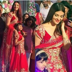 Aishwarya with her daughter Aaradhya Bachchan Actress Aishwarya Rai, Bollywood Actress, Indian Dresses, Indian Outfits, Aaradhya Bachchan, Desi Wear, Royal Clothing, Dress Makeup, Bollywood Stars