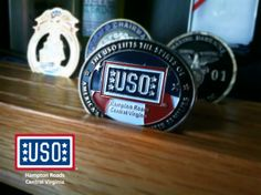 Support your local USO! Make a donation of $25 or more and receive a USO Hampton Roads and Central Virginia Challenge Coin! Visit www.USOHRCV.com/Challenge-Coin to support troops and families today!