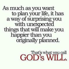 God's Will - just where I want to be!