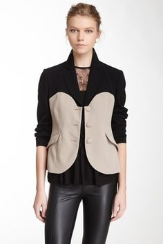LOVE Moschino Colorblock Bustier Blazer