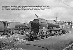 Name Train, Southern Railways, Merchant Navy, Bullen, British Rail, Battle Of Britain, Steam Locomotive, Southampton, Brighton