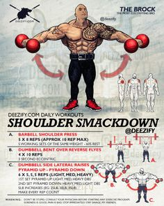 rock shoulder smackdown - shoulder day workout